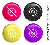 no gps multi color glossy badge ...