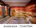 the hall of the throne in the... | Shutterstock . vector #711627064