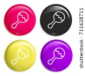 rattle multi color glossy badge ...
