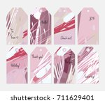 hand drawn creative tags.... | Shutterstock .eps vector #711629401