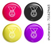 medal multi color glossy badge...