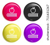 book multi color glossy badge...