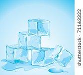 illustration of melting ice...