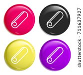 towel multi color glossy badge...