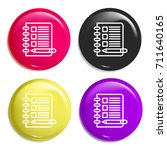 note multi color glossy badge...