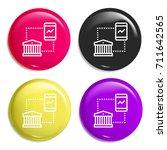 mobile banking multi color...