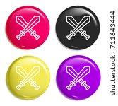 sword multi color glossy badge...