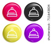 hat multi color glossy badge...