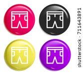shorts multi color glossy badge ...