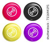 disc multi color glossy badge...