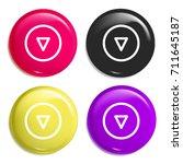 down multi color glossy badge...
