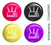 router multi color glossy badge ...