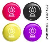 webcam multi color glossy badge ...