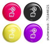 ball multi color glossy badge...