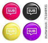 sub multi color glossy badge...