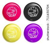 helmet multi color glossy badge ...