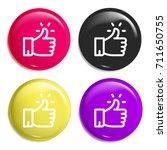 like multi color glossy badge...