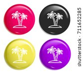 palm tree multi color glossy...