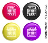 hotel multi color glossy badge...