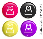 dress multi color glossy badge...