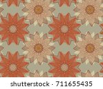 vector seamless pattern with... | Shutterstock .eps vector #711655435
