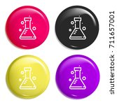 flask multi color glossy badge...