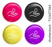 water multi color glossy badge...