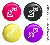 review multi color glossy badge ...