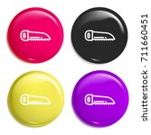 saw multi color glossy badge...