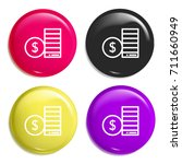 coins multi color glossy badge...