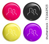 users multi color glossy badge...