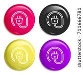 plug multi color glossy badge...