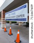 Small photo of Missouri City, TX - September 9, 2017: Hurricane Harvey disaster recovery centers staffed with recovery specialists from FEMA, US Small Business Administration, State and other agencies open in Texas