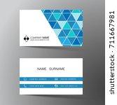 modern business card template... | Shutterstock .eps vector #711667981