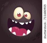Cool Cartoon Black Monster Fac...
