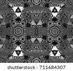 ethnic design. striped... | Shutterstock . vector #711684307