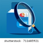 under magnifying glass with... | Shutterstock .eps vector #711685921