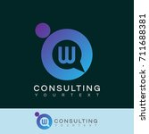 consulting initial letter w... | Shutterstock .eps vector #711688381