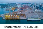 international container cargo... | Shutterstock . vector #711689281