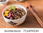 cricket insect  corn  red bean  ... | Shutterstock . vector #711694234