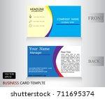 blue business banner name card... | Shutterstock .eps vector #711695374