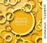 modern yellow abstract circle... | Shutterstock .eps vector #711698935