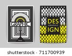 abstract black and white stripe ... | Shutterstock .eps vector #711700939