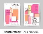 abstract paper cut brochure... | Shutterstock .eps vector #711700951