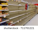 Small photo of FORT LAUDERDALE, FLORIDA - SEPTEMBER 8: Supermarket bread aisle is sold out at a local grocery store as residents shop and prepare for Hurricane Irma, a dangerous category 5 hurricane.
