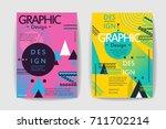 flat geometric covers design.... | Shutterstock .eps vector #711702214