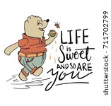 life is sweet and so are you... | Shutterstock .eps vector #711702799