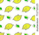 lemon juicy fruit. vector... | Shutterstock .eps vector #711710125