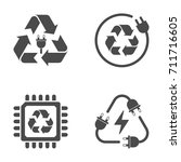 recycle sign  e waste garbage... | Shutterstock .eps vector #711716605