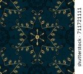 trendy stylized golden... | Shutterstock .eps vector #711721111